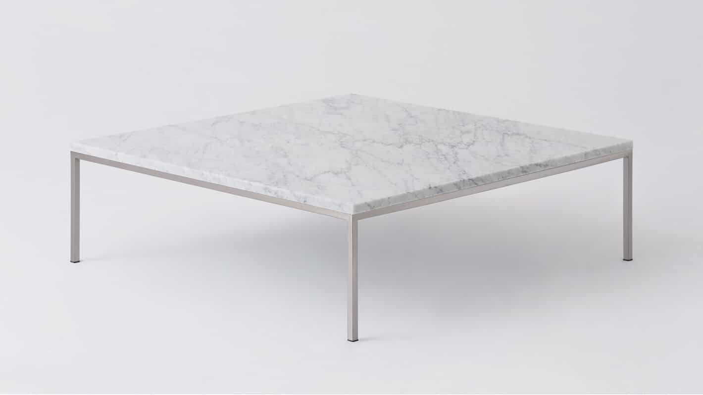 7020 040 par 14 coffee tables custom square table white marble stainless base corner 01