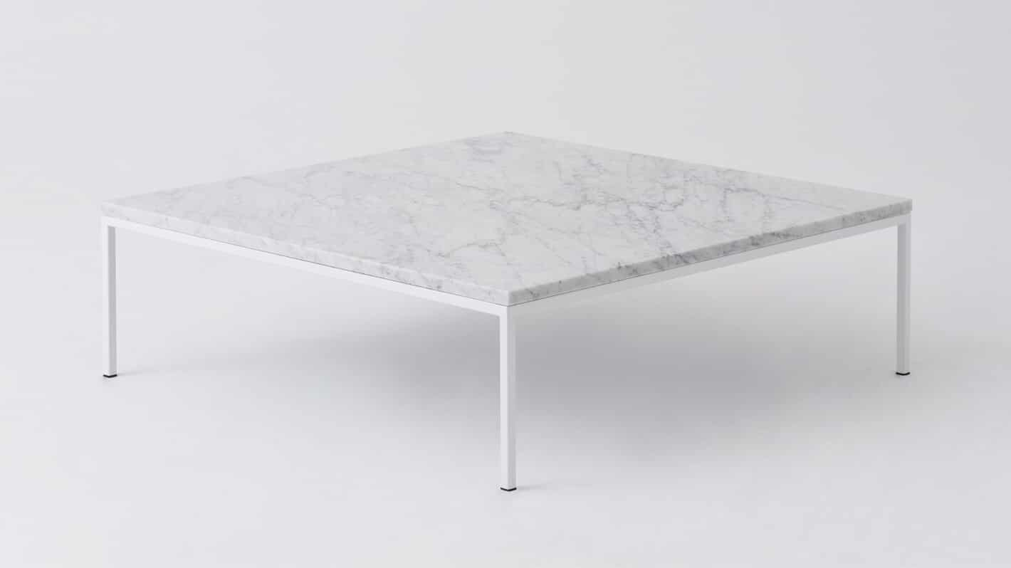 Marble white square coffee table