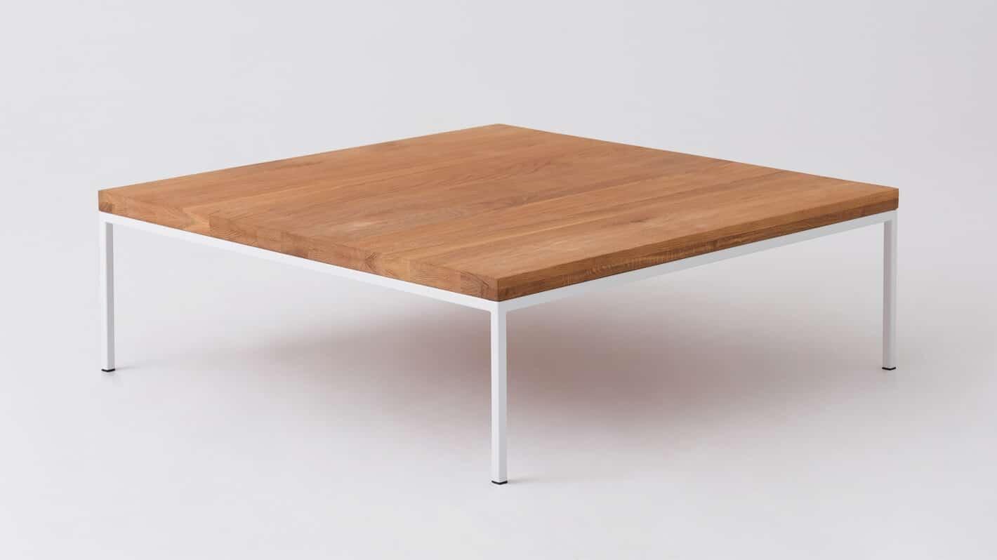 Oak white square coffee table