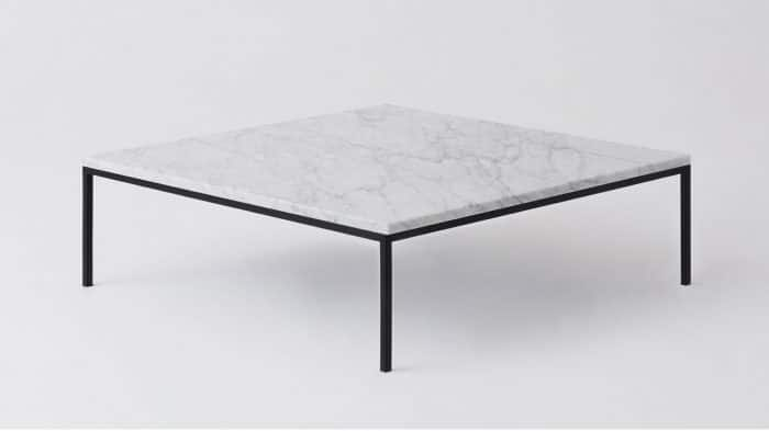 Marble black square coffee table