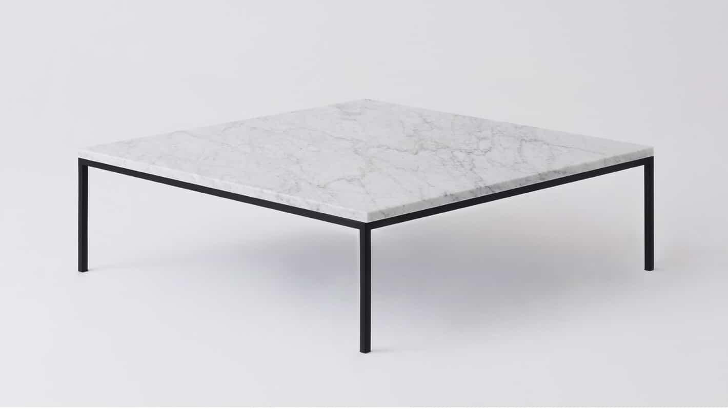 7020 040 par 8 coffee tables custom square table white marble black base corner 01