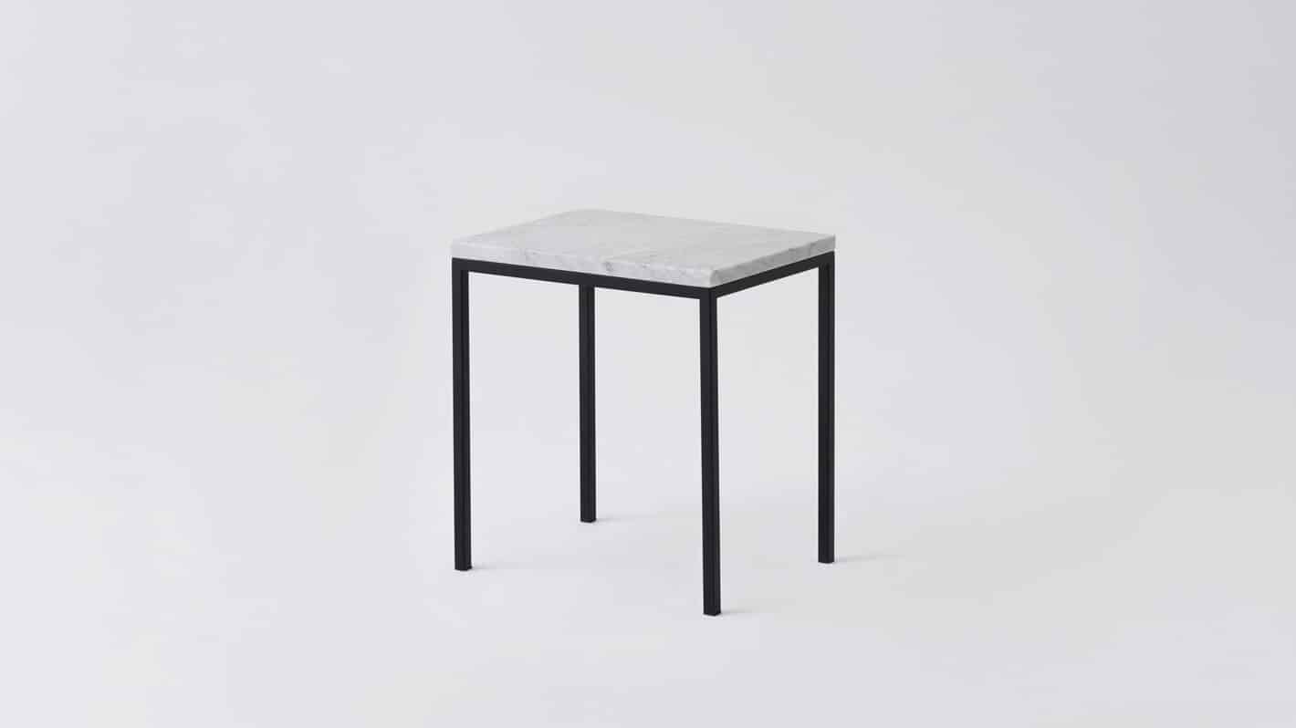 7020 090 par 12 end tables custom end table white marble black base corner 01
