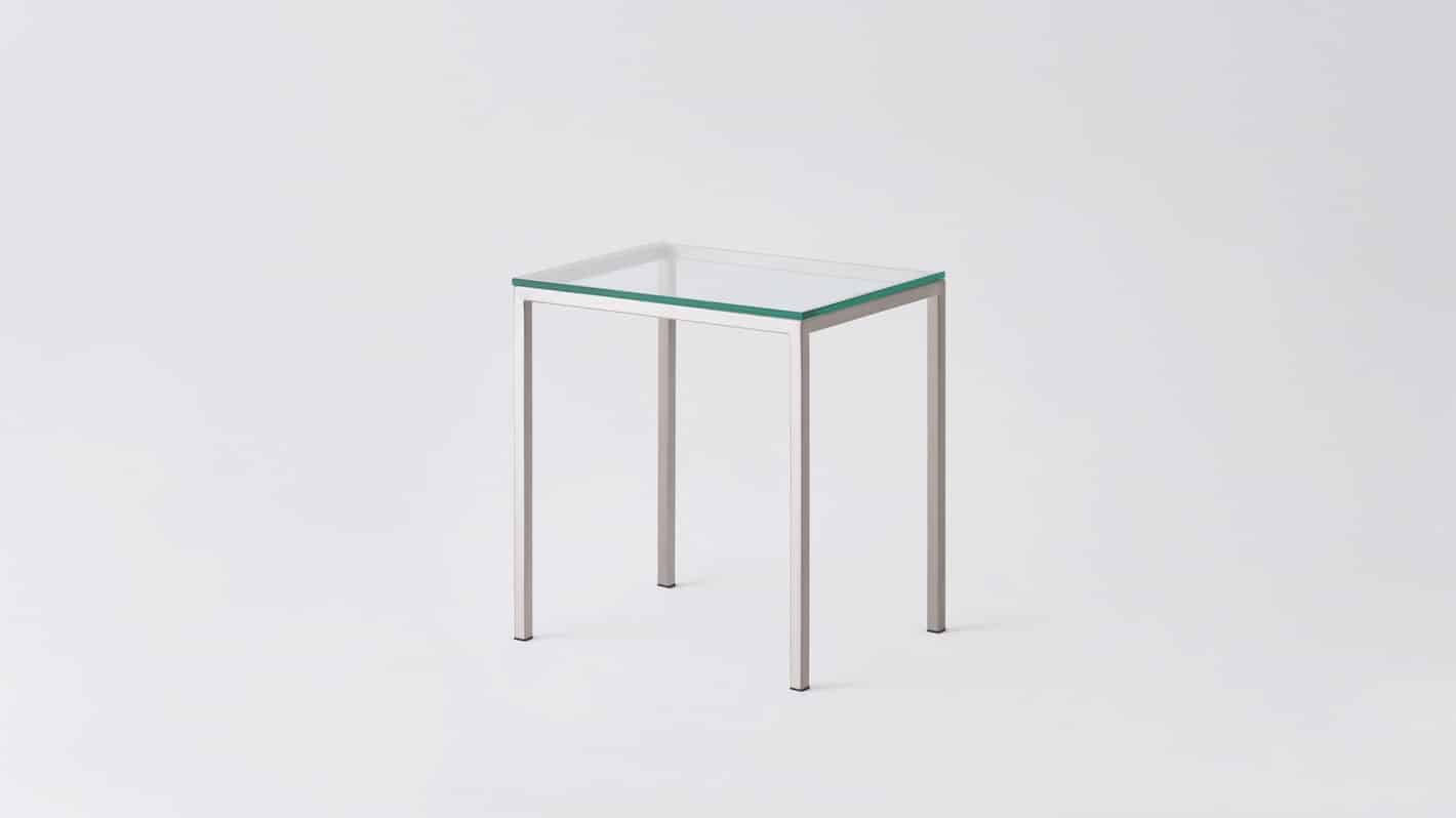 7020 090 par 16 end tables custom end table glass stainless base corner 01