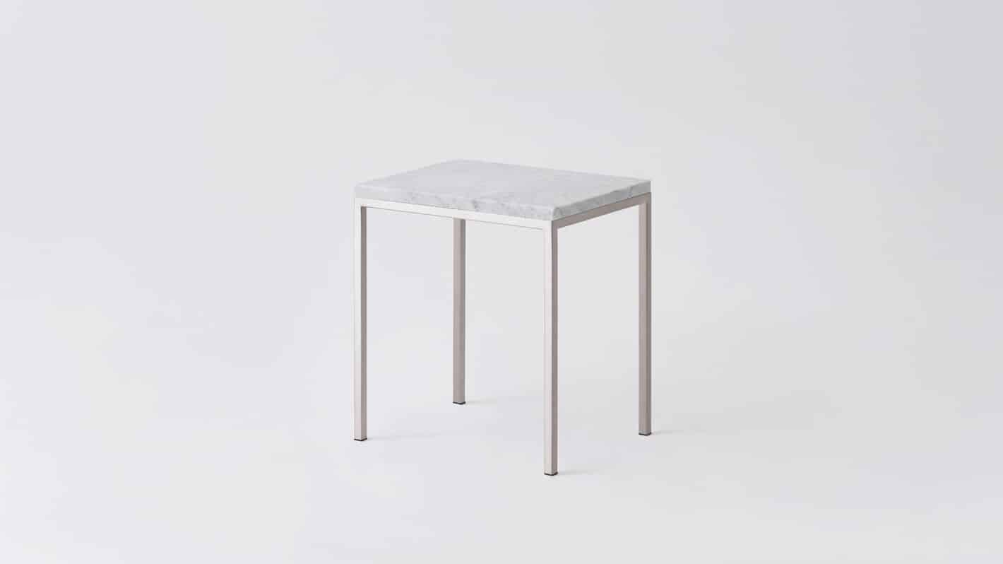 7020 090 par 18 end tables custom end table white marble stainless base corner 01