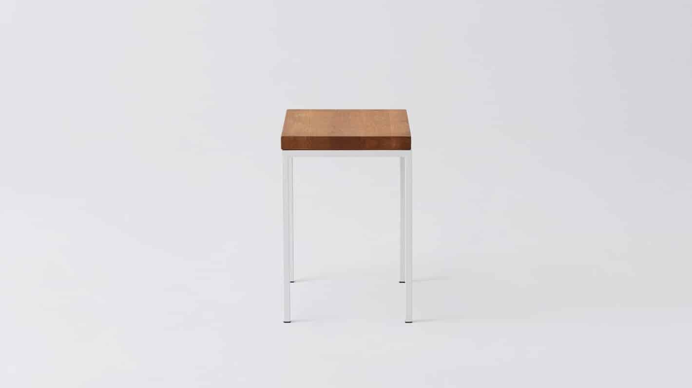 Oak white base end table