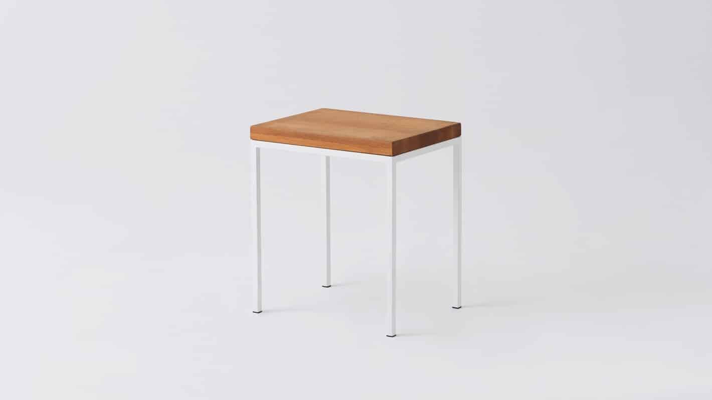 7020 090 par 2 end tables custom end table oak white base corner 01