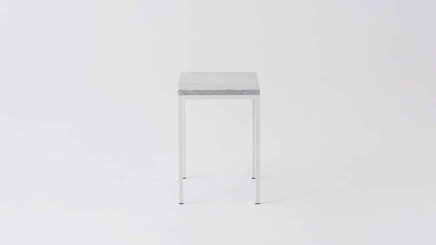 7020 090 par 21 end tables custom end table white marble white base side 01