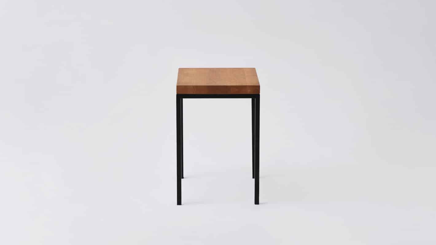 Oak black base end table