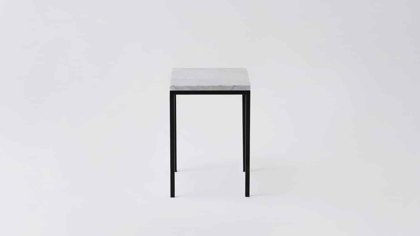 Marble black base end table