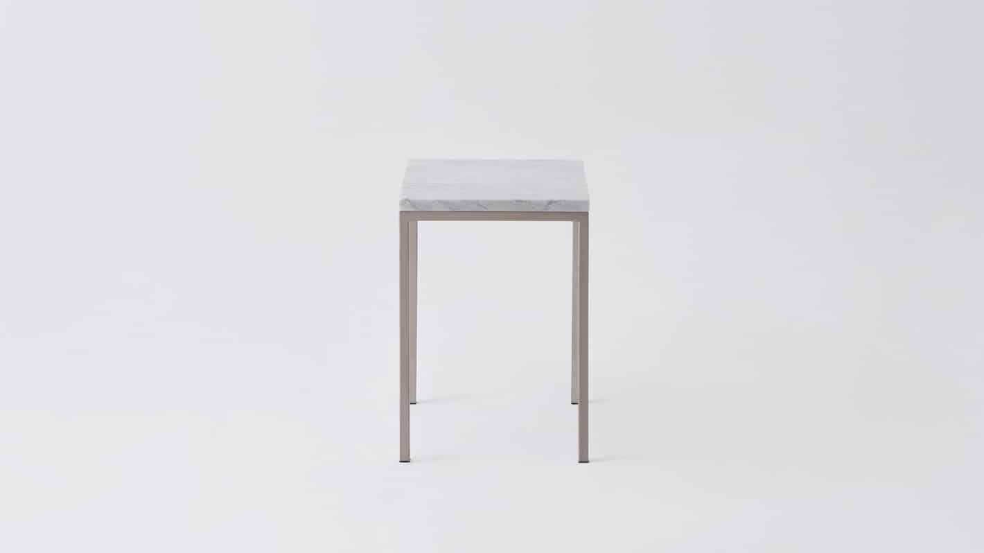 Marble stainless base end table