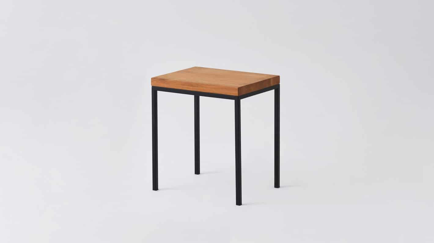 7020 090 par 8 end tables custom end table oak black base corner 01