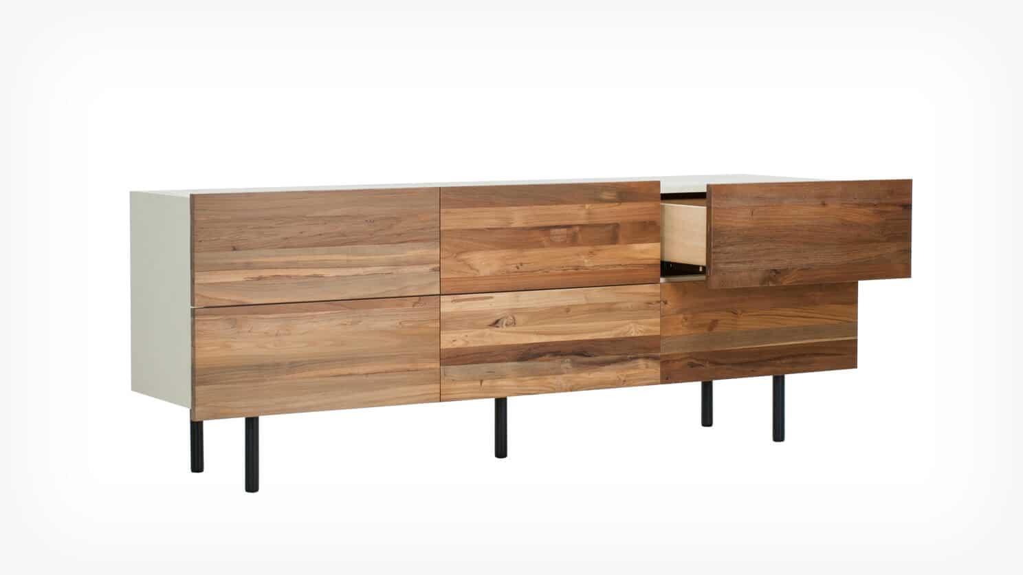 7040 449 par 4 dressers reclaimed low dresser teak corner w drawer