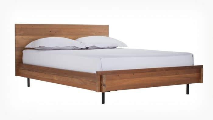 7040 962 p 2 beds reclaimed bed teak corner