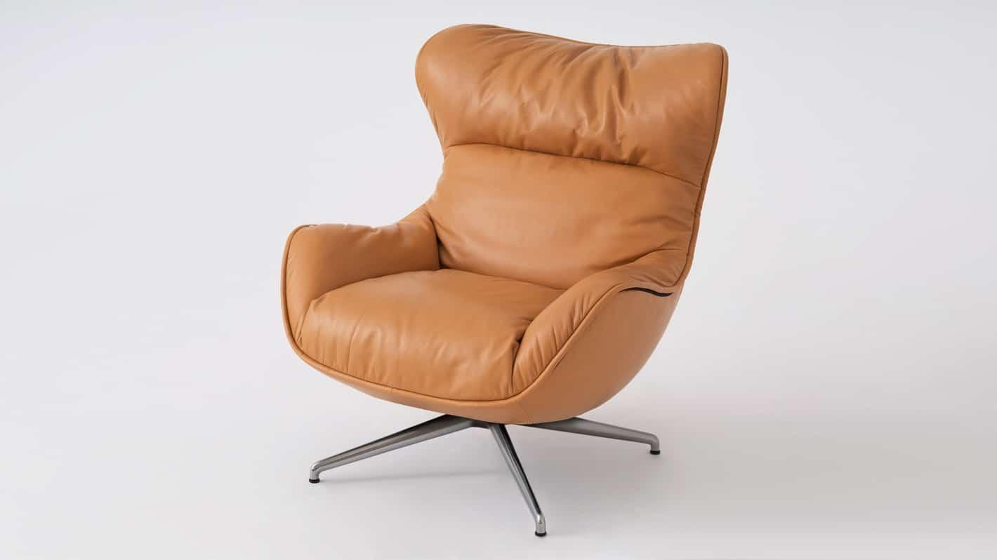 arie chair coachella cognac front coachella cognac back polished base detail 02