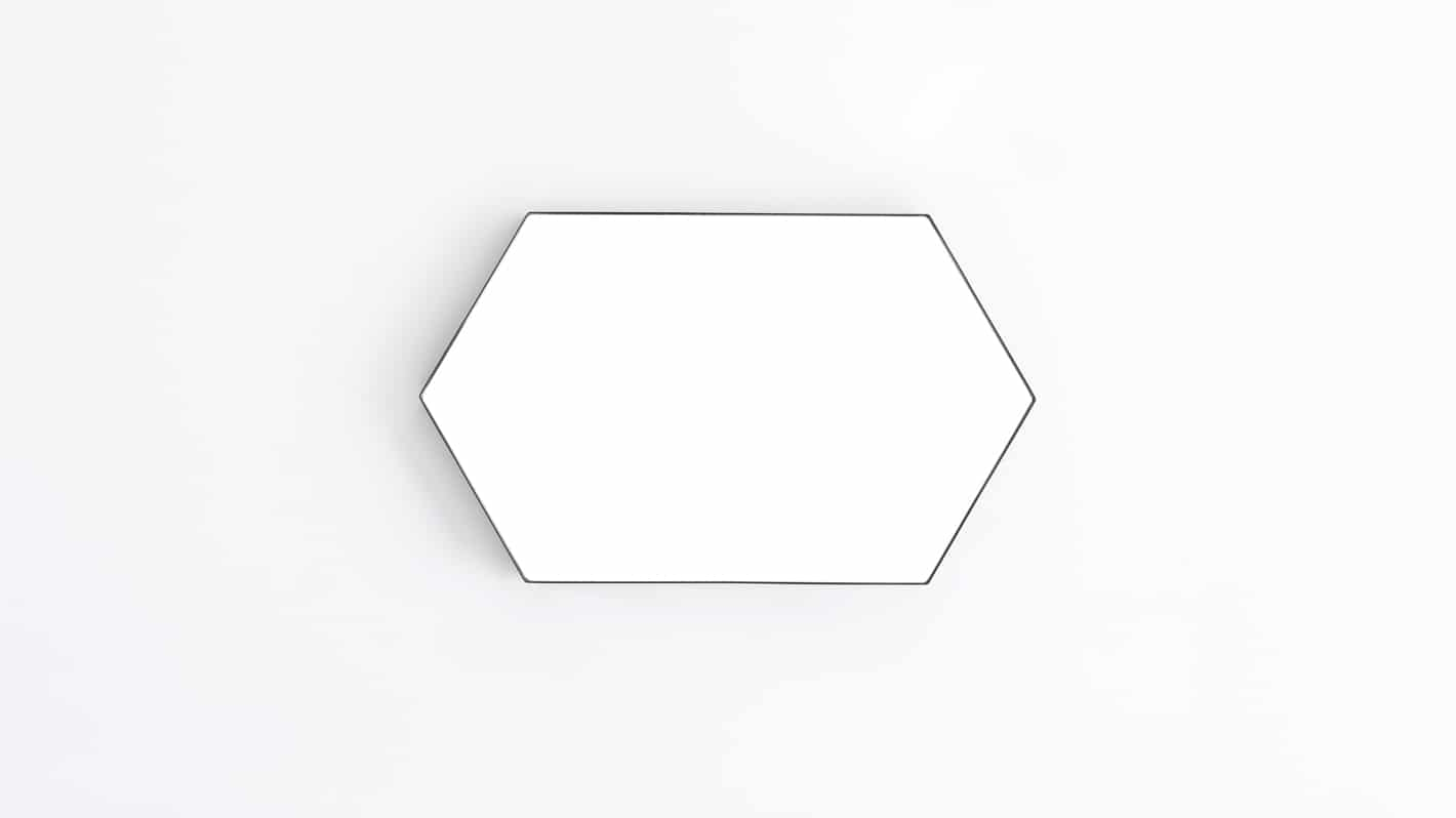 Hex Mirror Large Black Front