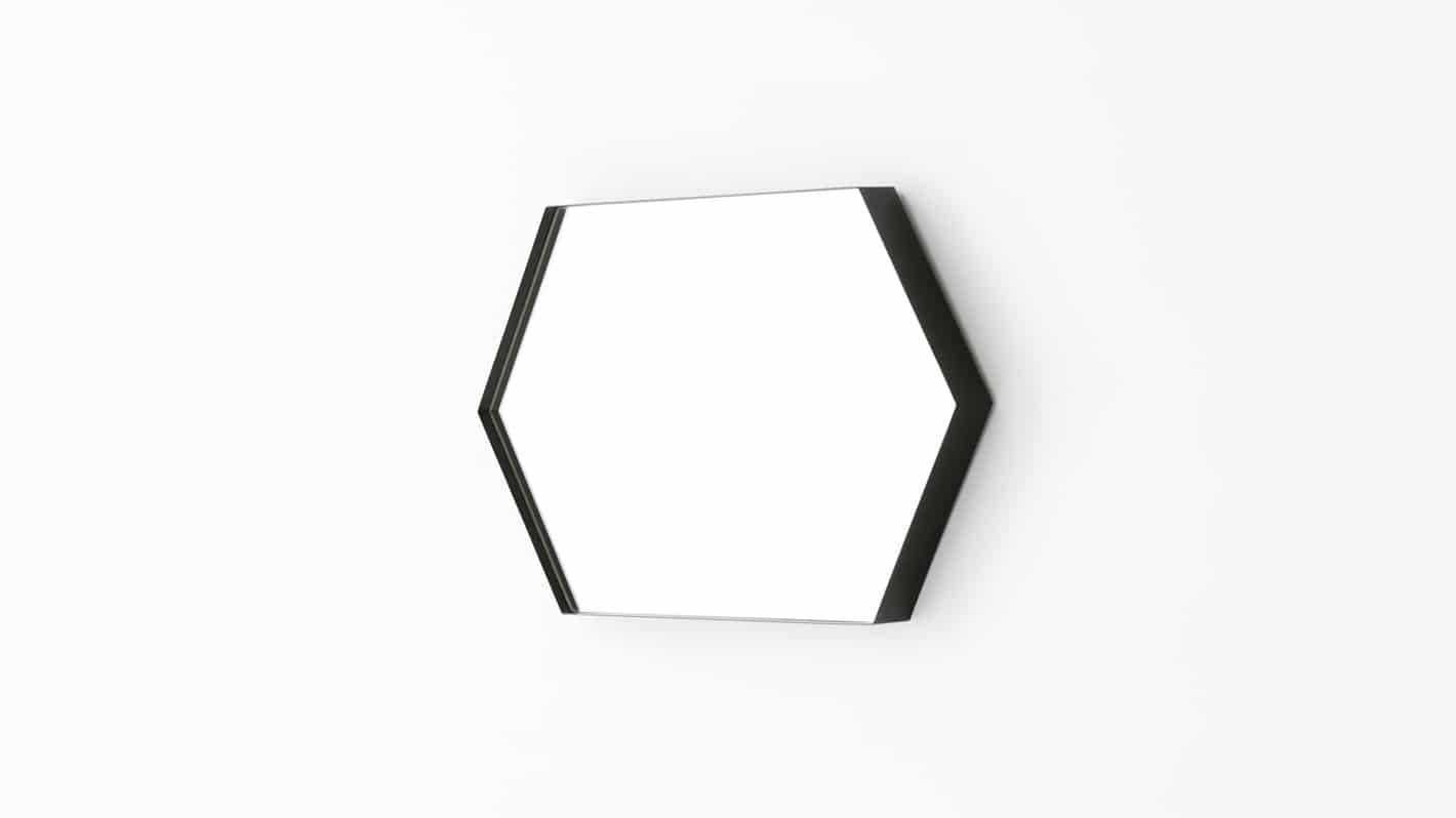 hex mirror large black side 02