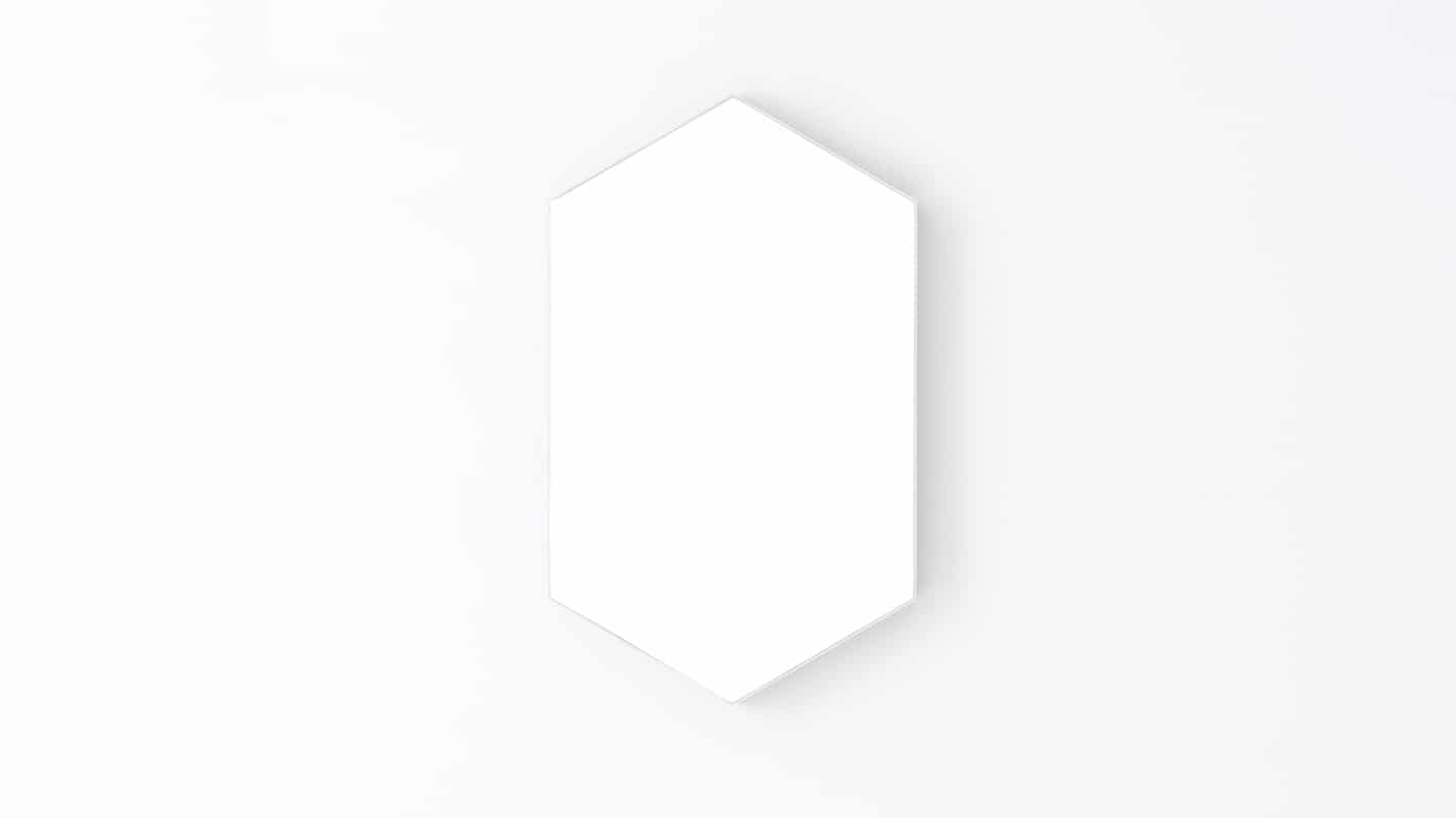 Large White Hex Mirror Front