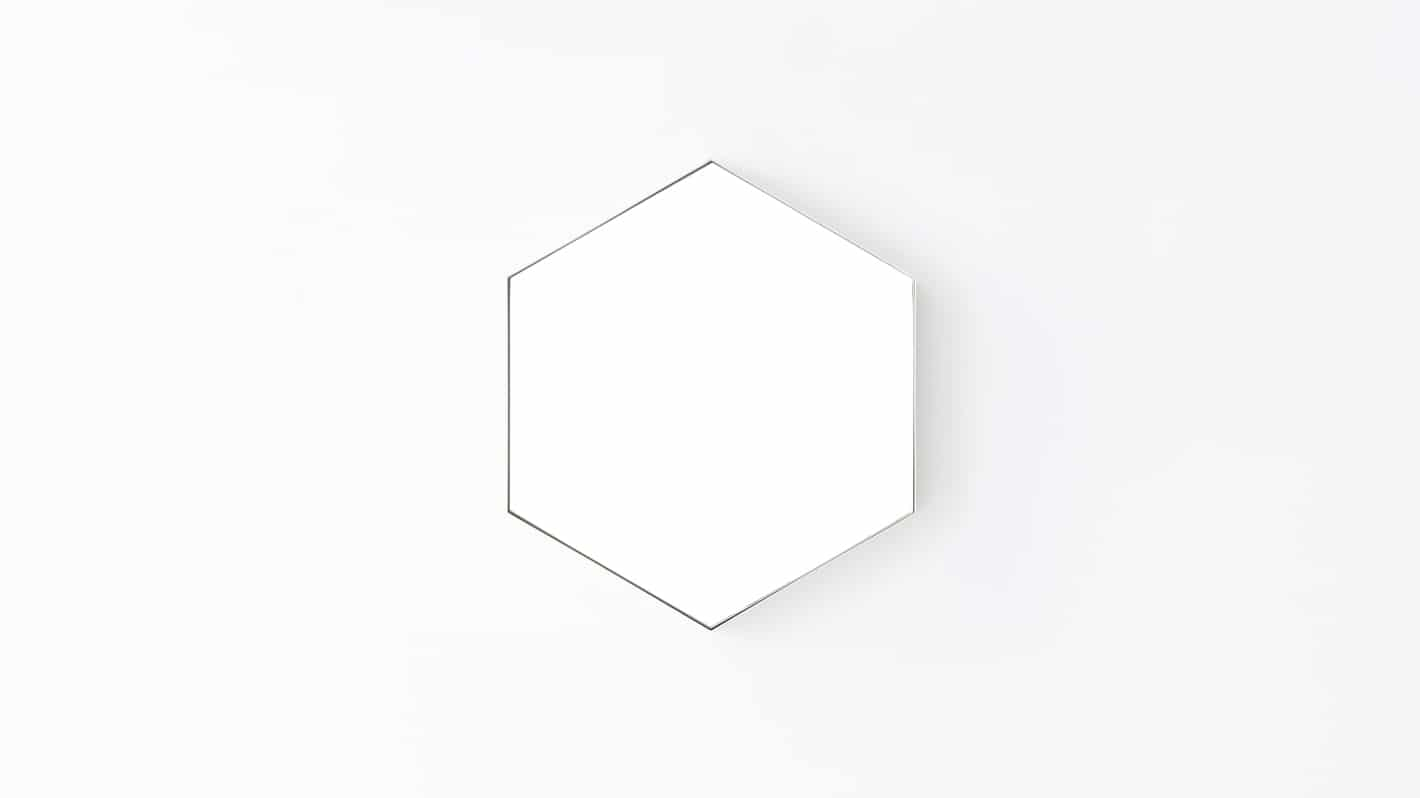 hex mirror small white front 01