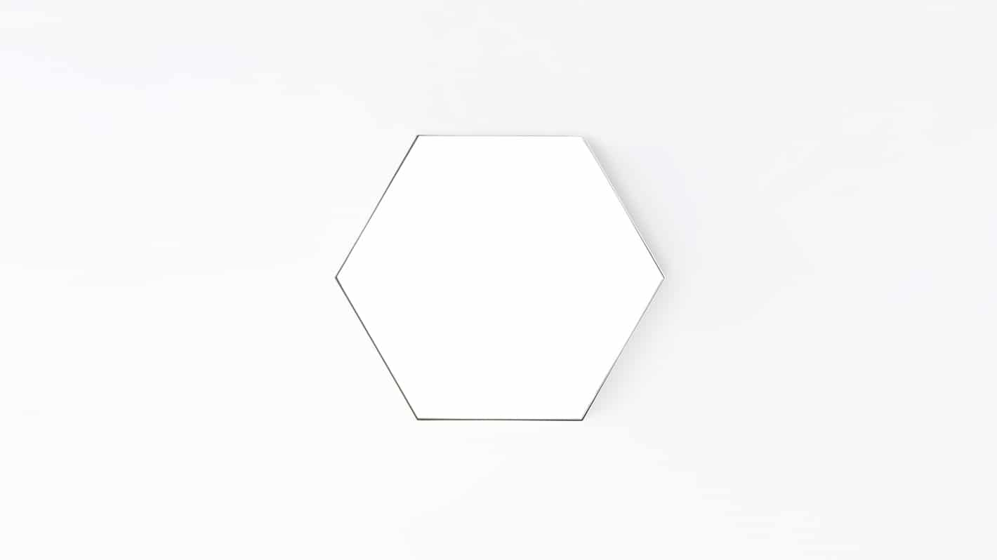 hex mirror small white front 02