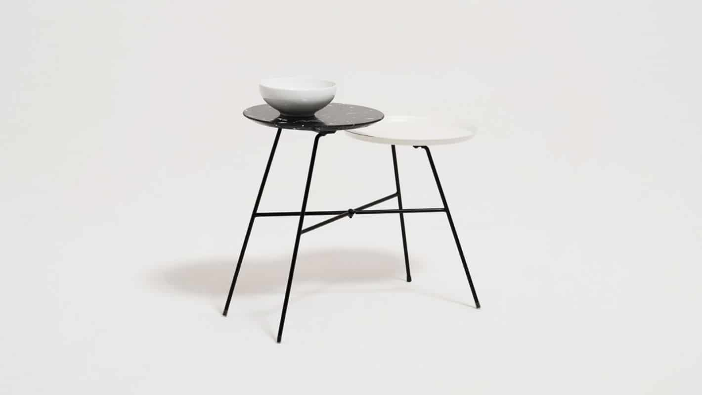 peggy  side table white blk marble detail 01