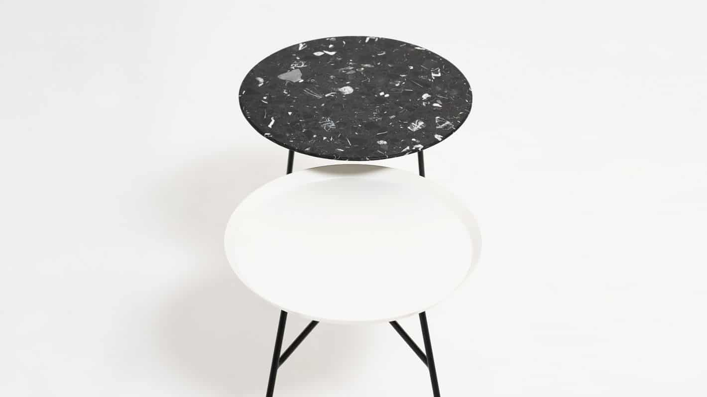 peggy  side table white blk marble detail 03