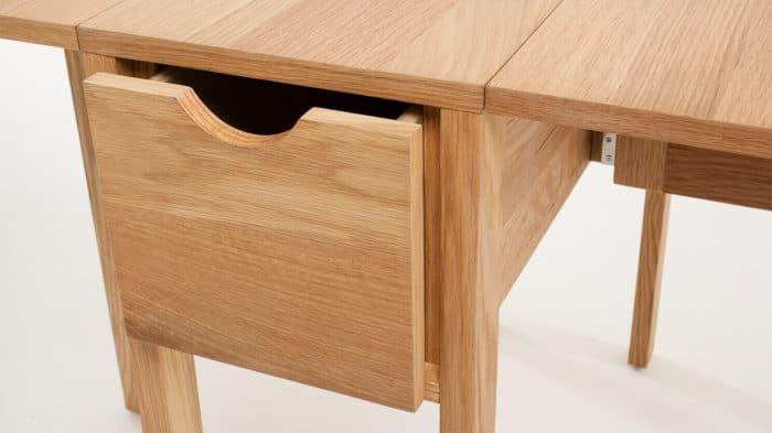 3020 377 par 4 dinette tables hallie folding table oak detail