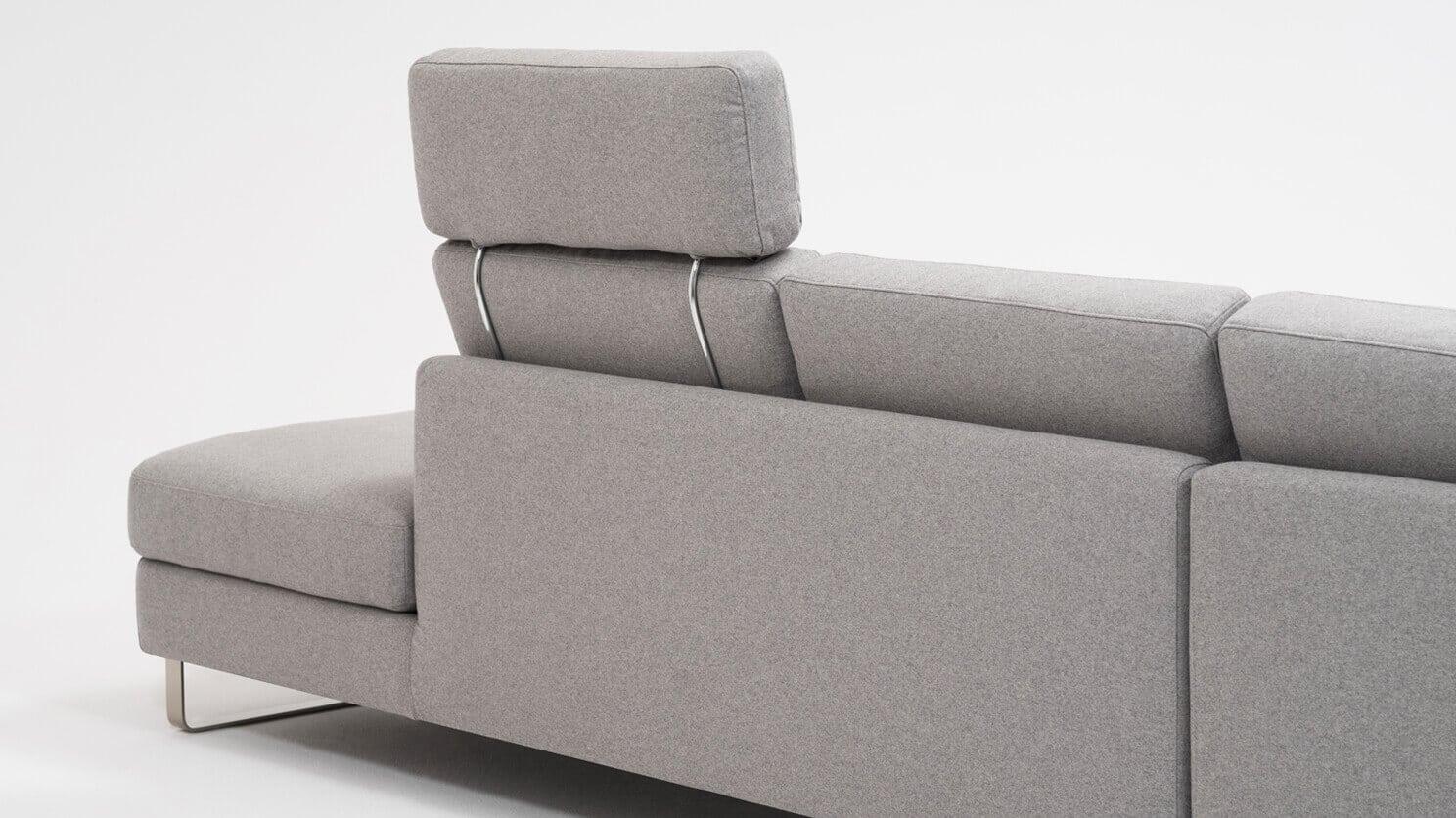 Oskar 2 Piece Sectional Sofa W Headrest D3 Home