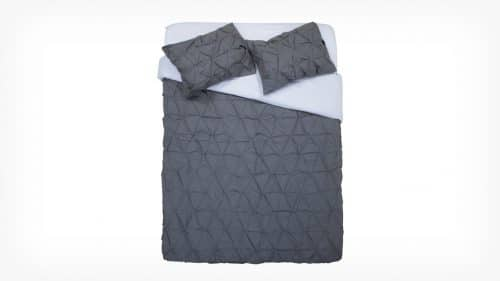 Moncton Grey Queen Duvet Set Made