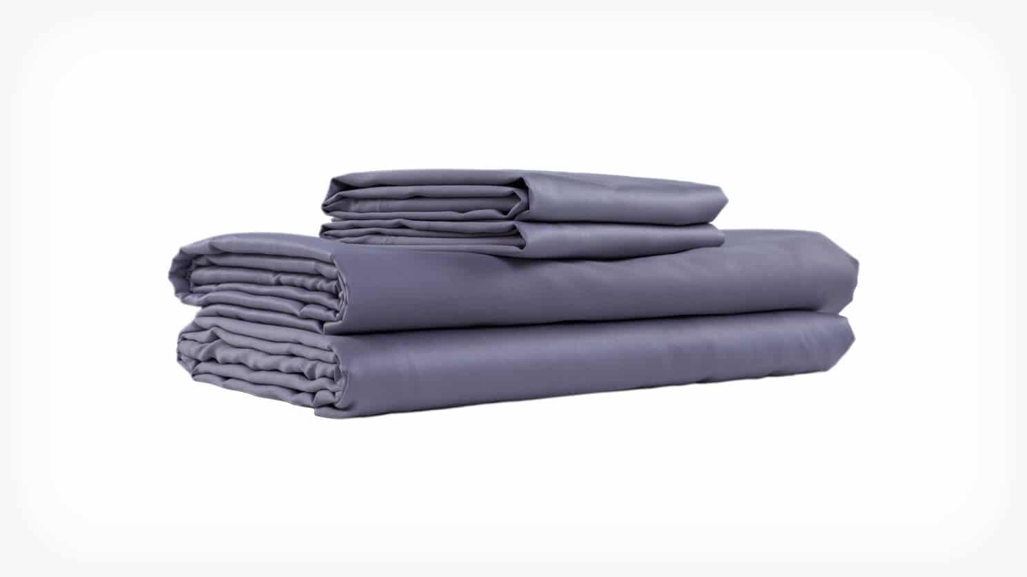 Grey Cotton King Sheet Set Folded