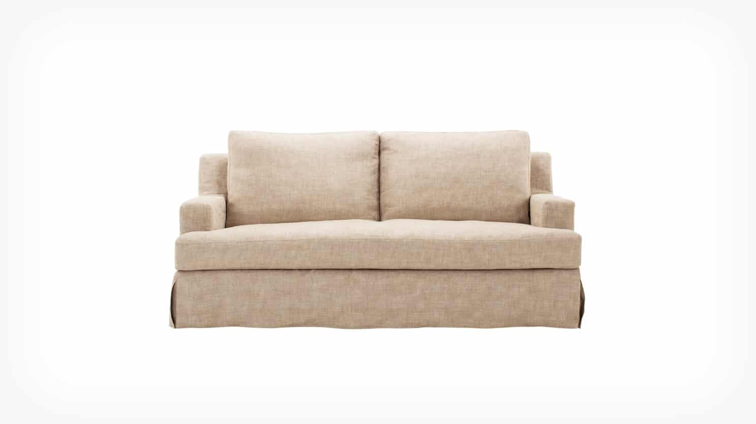 32113 03 01 loveseat slipcover blanche front view