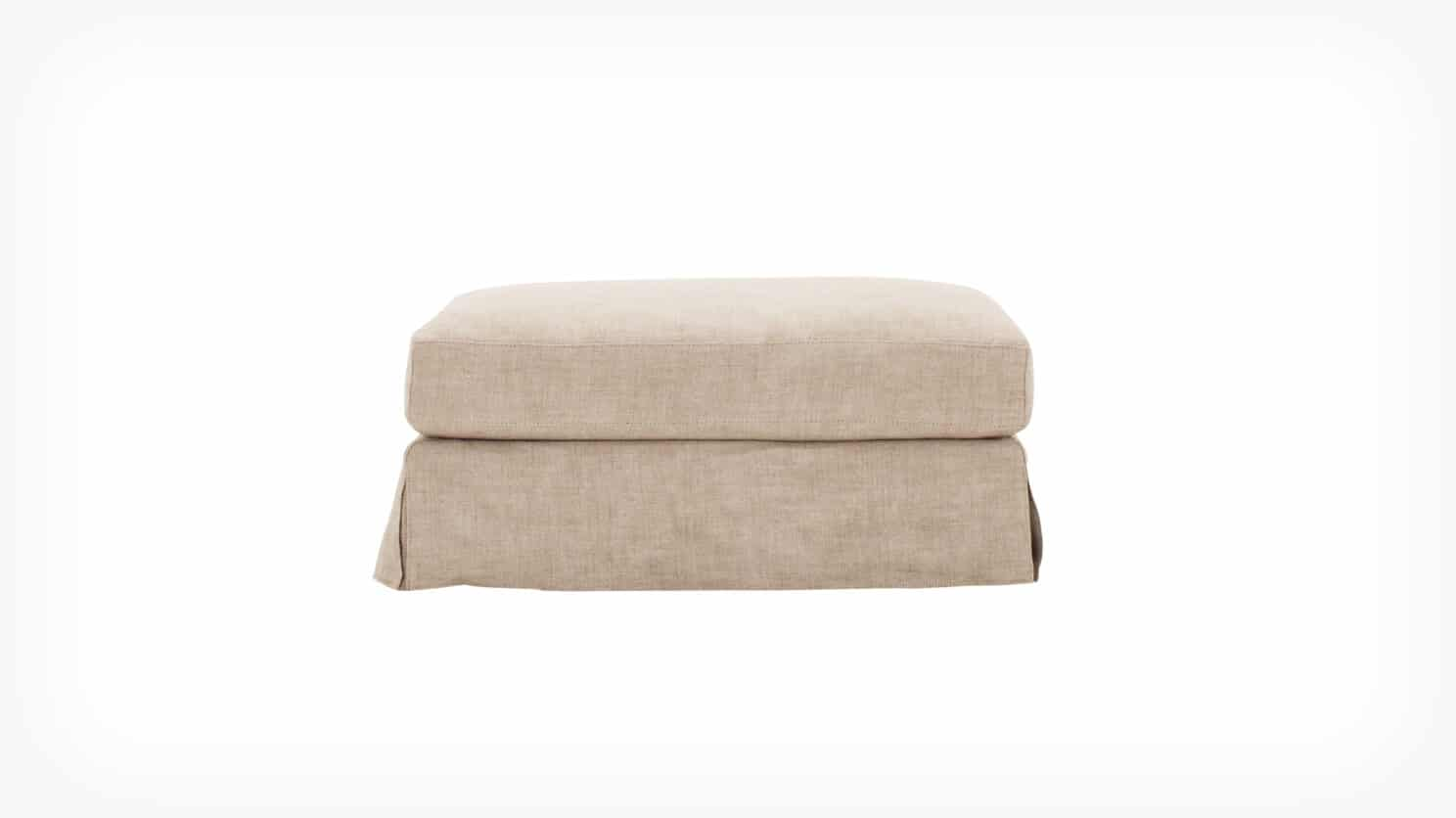 32113 04 01 ottoman slipcover blanche front view