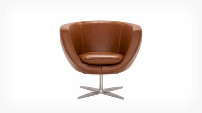 37119 71 par 1 chairs tub chair leather front 01