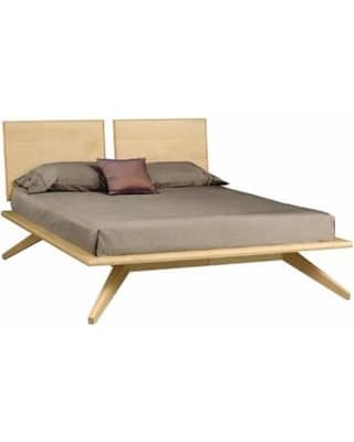 copeland furniture astrid bed with 2 adjustable headboard panels natural maple