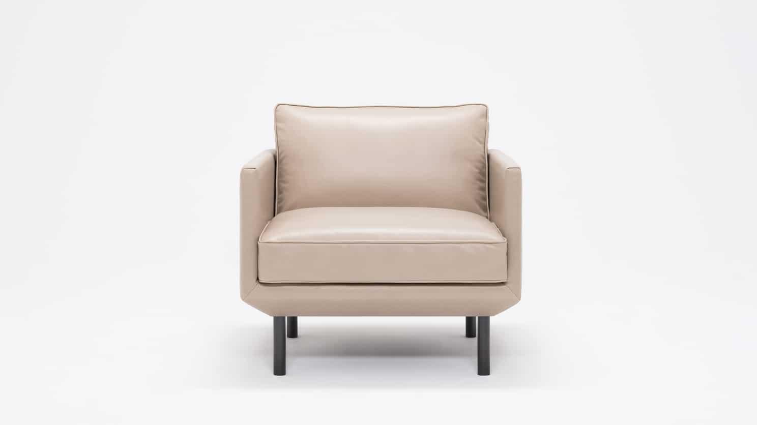 plateau club chair feather coachella warm grey front 02