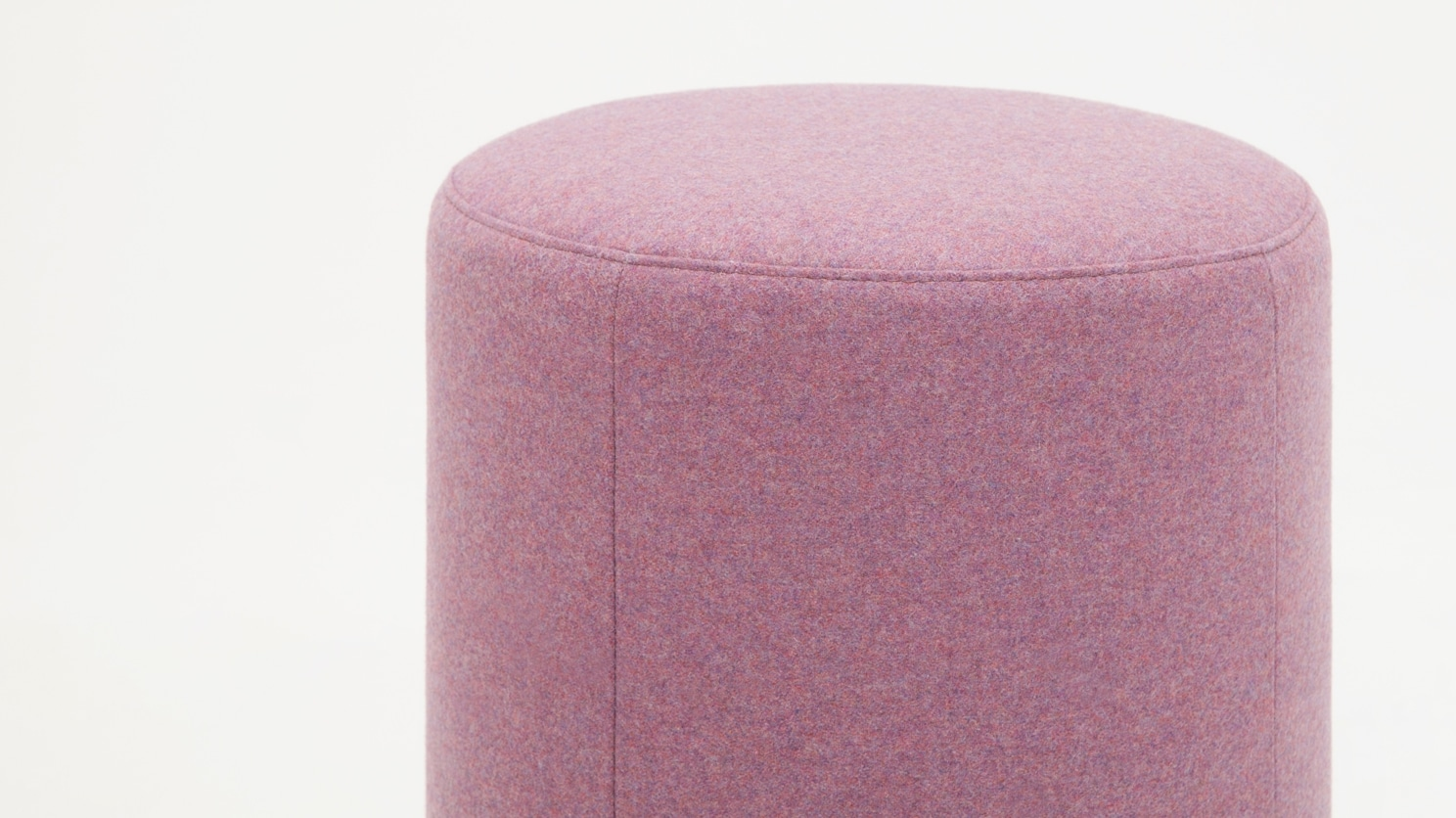 round ottoman lana light purple detail 01