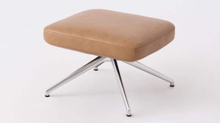 suite ottoman polished aluminum base detail 01
