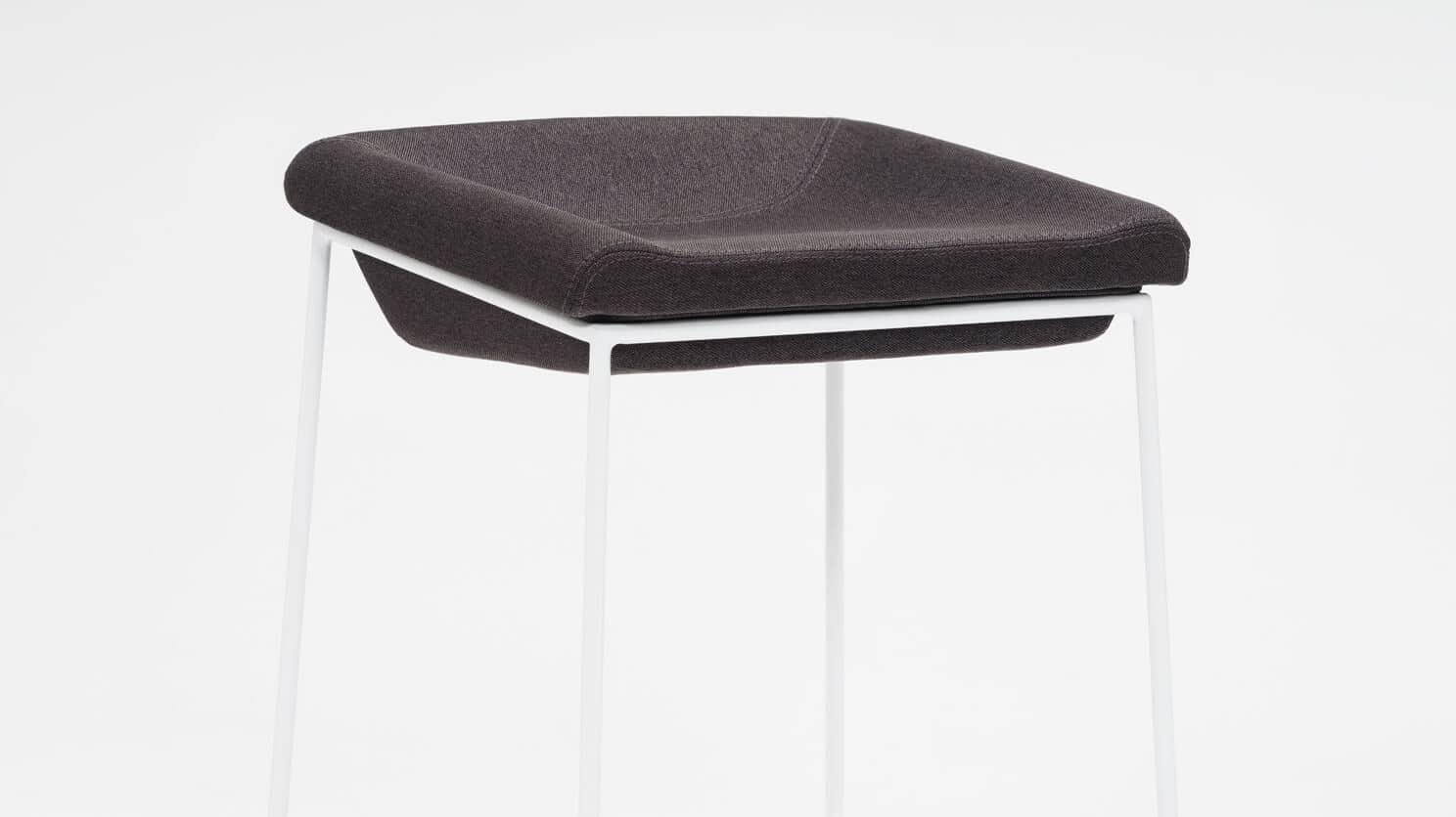 3020 266 par 2 counter chairs mackenzie bar stool dark grey seat white base detail 01 1