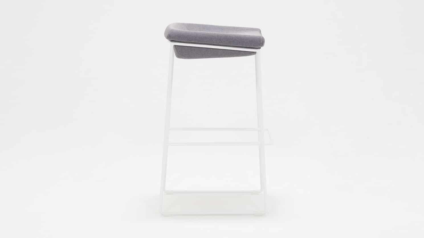 3020 266 par 8 counter chairs mackenzie bar stool light grey seat white base side 01