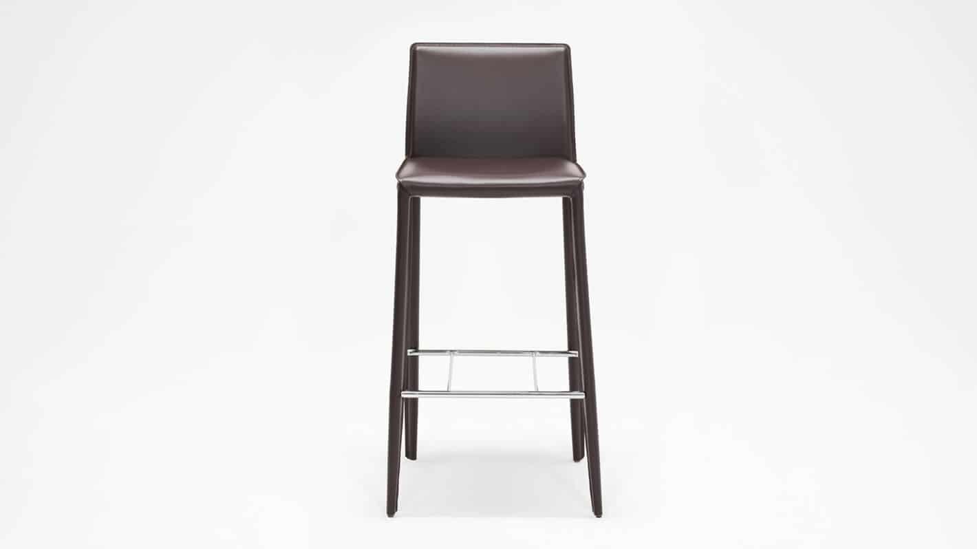 3020 272 32 1 counter chairs low back bar chair brown front 01