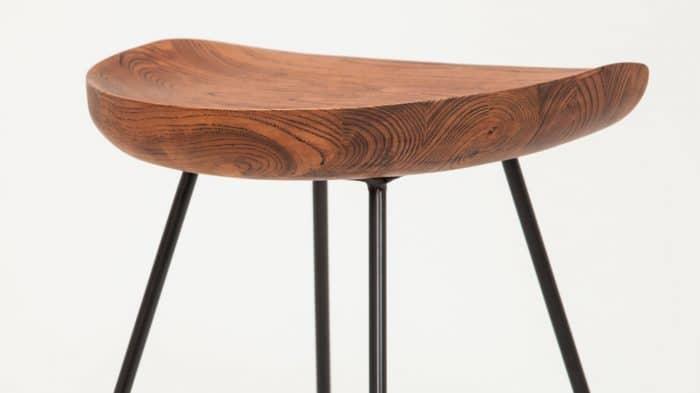 3020 274 par 4 counter chairs dawn counter stool black legs detail 01