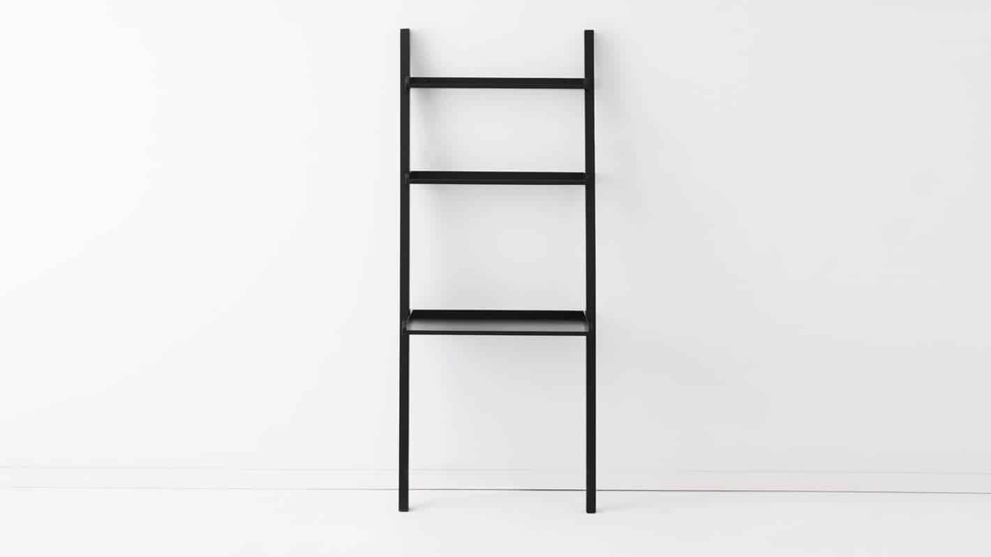 3020 522 par 2 desks asterix desk ladder black front 02