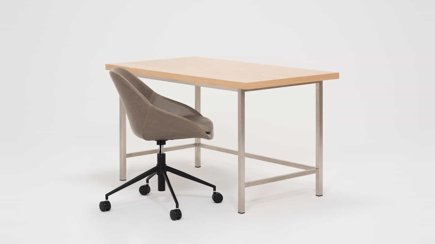 7060 307 opar 9 desks kendall desk oak stainless steel detail 02