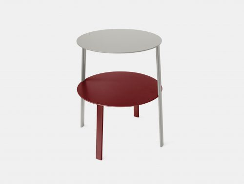 Bensen Bi Side Table silver red MSDS