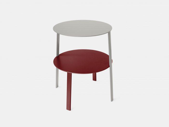 Bensen Bi Side Table silver red MSDS