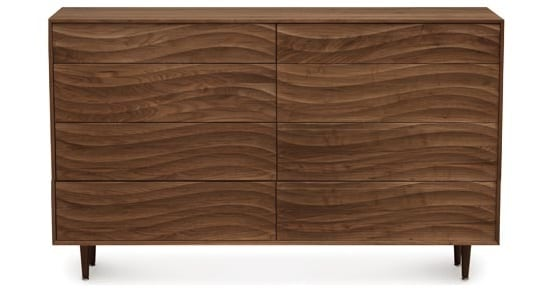 Copeland Wave 8 Drawer Dresser Walnut