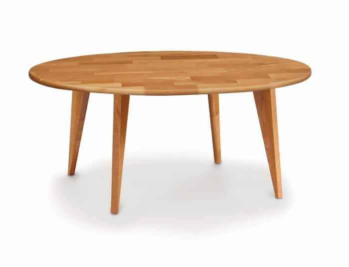essentialsroundcoffeetablewoodlegscherry