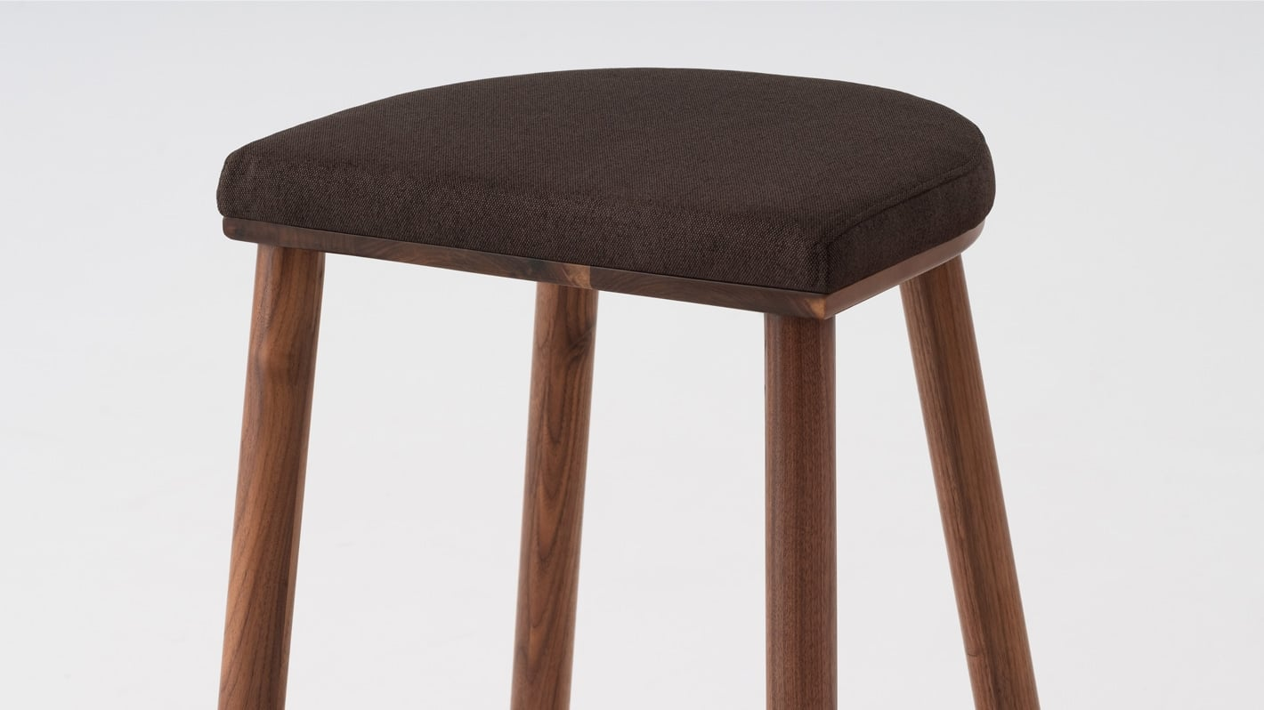 lima counter stool dark grey walnut base detail 01