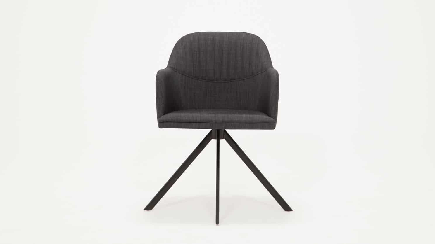 3020 391 par 1 dining chairs abigail arm chair dark grey front 02