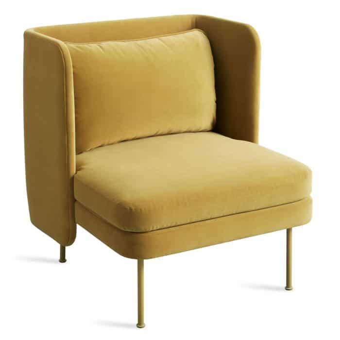 bl1 lngchr oc fronthigh bloke lounge chair velvet ochre