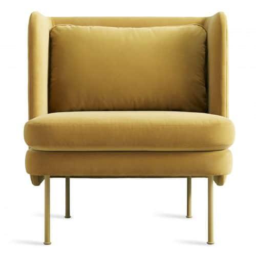 bl1 lngchr oc frontlow bloke lounge chair velvet ochre